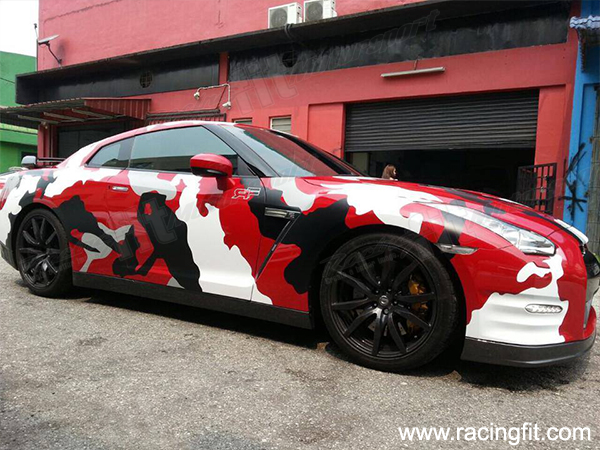 Nissan GTR R35 CAMO Sticker Wrap GTR